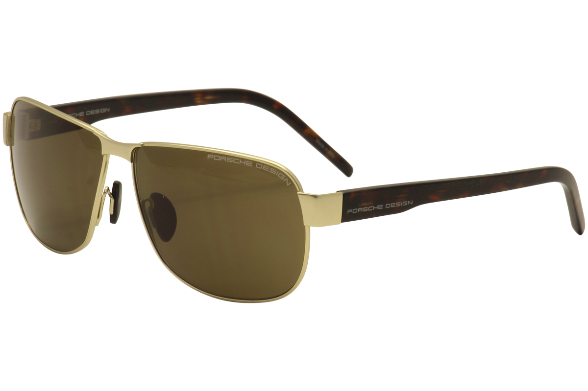 Porsche Design Men s P8633 P 8633 B Light Gold Square Fashion ... 36d30392f9db