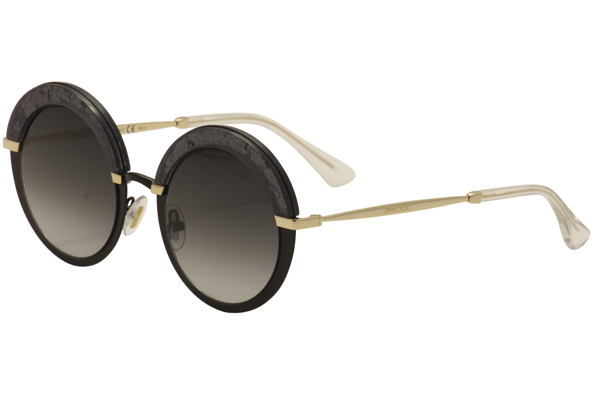 6200081f92 Jimmy Choo Women s Gotha S THP 9O Matte Black Gold Fashion Round ...