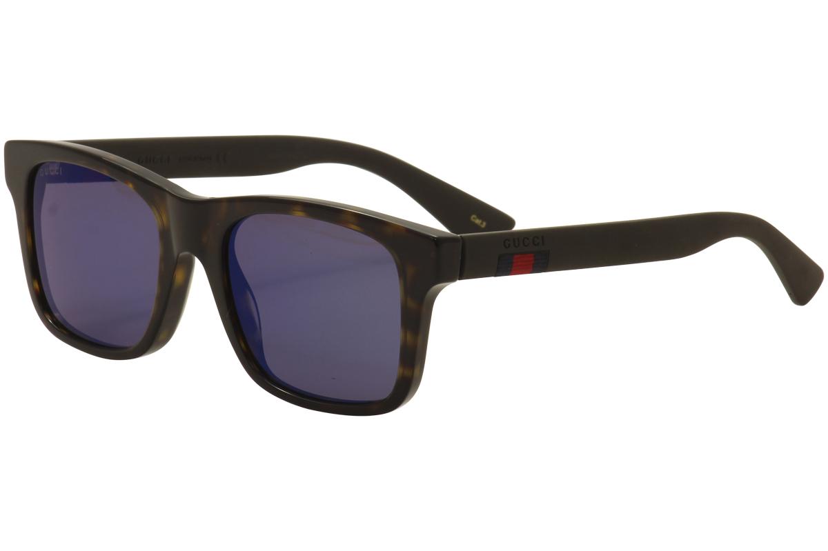b8d7e43c16 Gucci Men s GG0008S GG 0008 S 003 Havana Brown Fashion Sunglasses ...