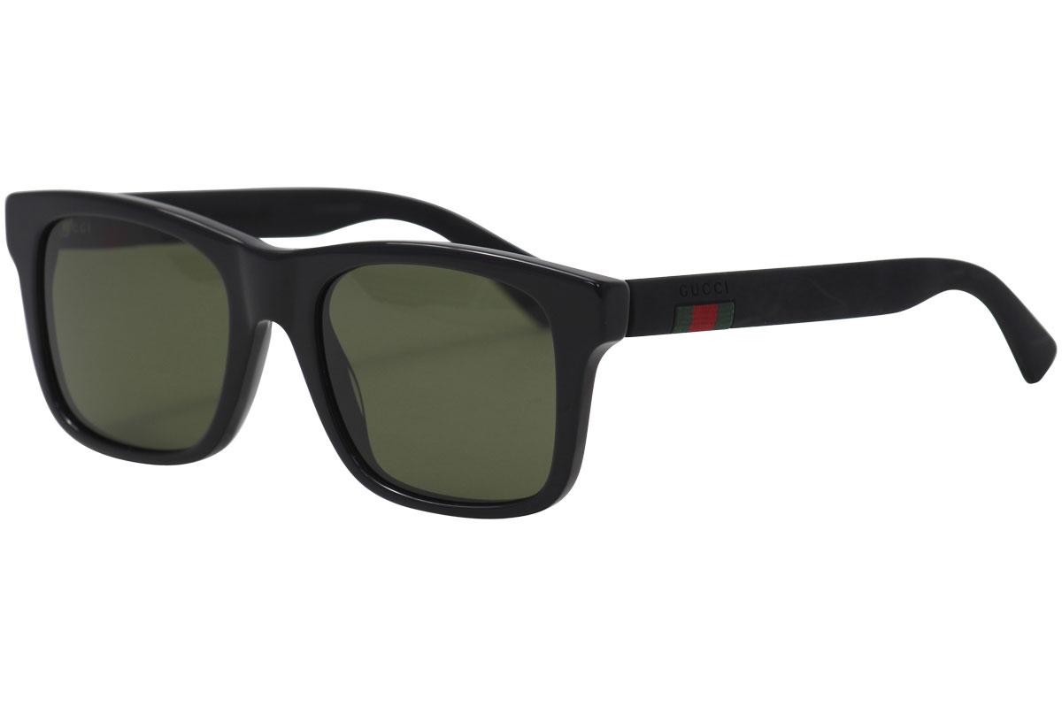 5fd6ea6beb9bb Gucci Men s GG0008S GG 0008 S 001 Black Square Sunglasses 53mm ...