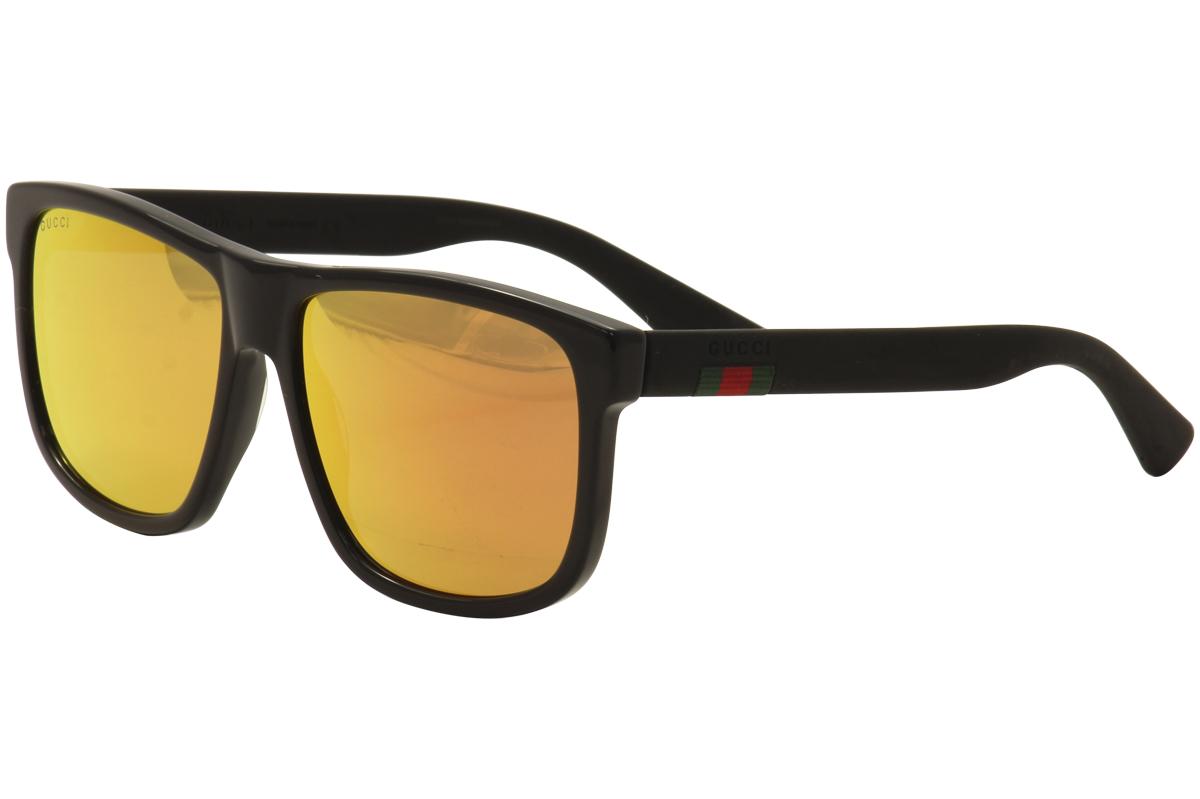 804b137a3 Details about Gucci Men s GG0010S GG 0010 S 002 Black Fashion Sunglasses  58mm