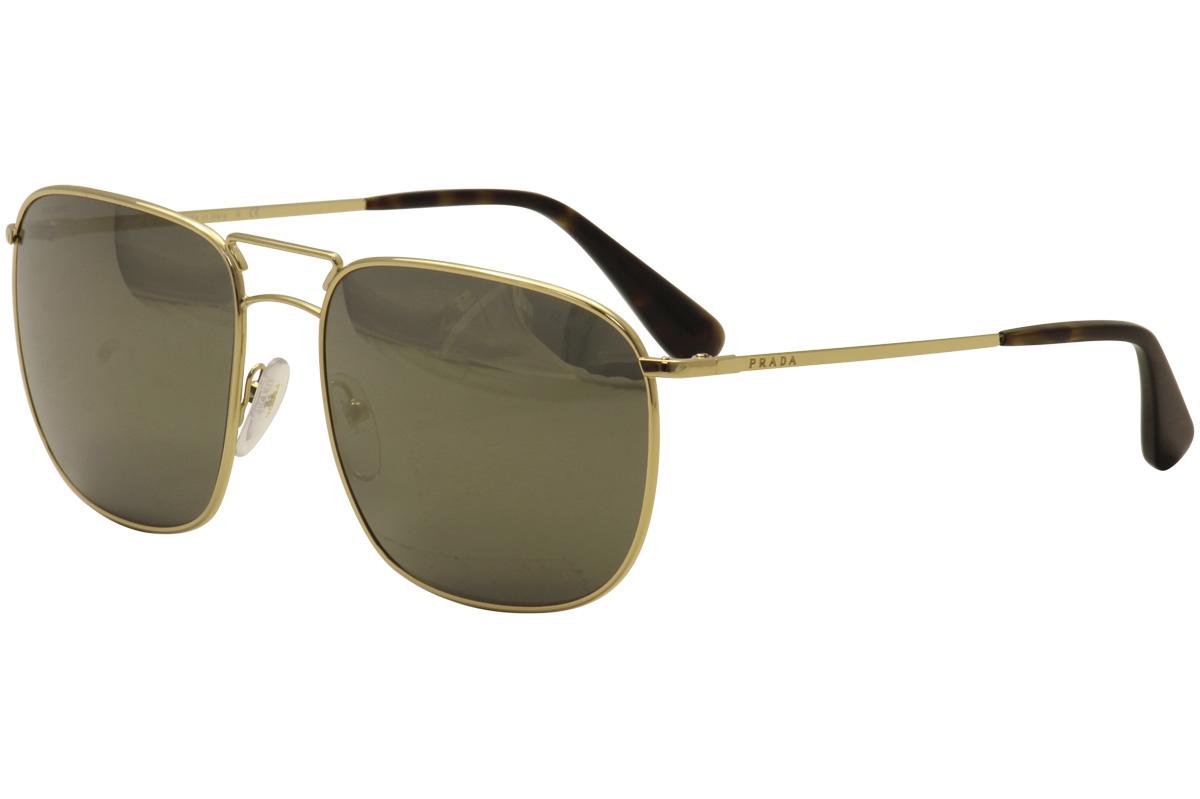 7aa99d01 Details about Prada Men's SPR52T SPR/52T 5AK4L0 Gold/Black Fashion  Sunglasses 60mm