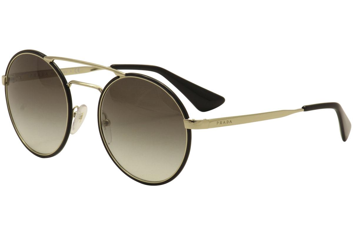 5fa461ada15d Prada Women s SPR51S SPR 51S 1AB-0A7 Black Pale Gold Fashion ...
