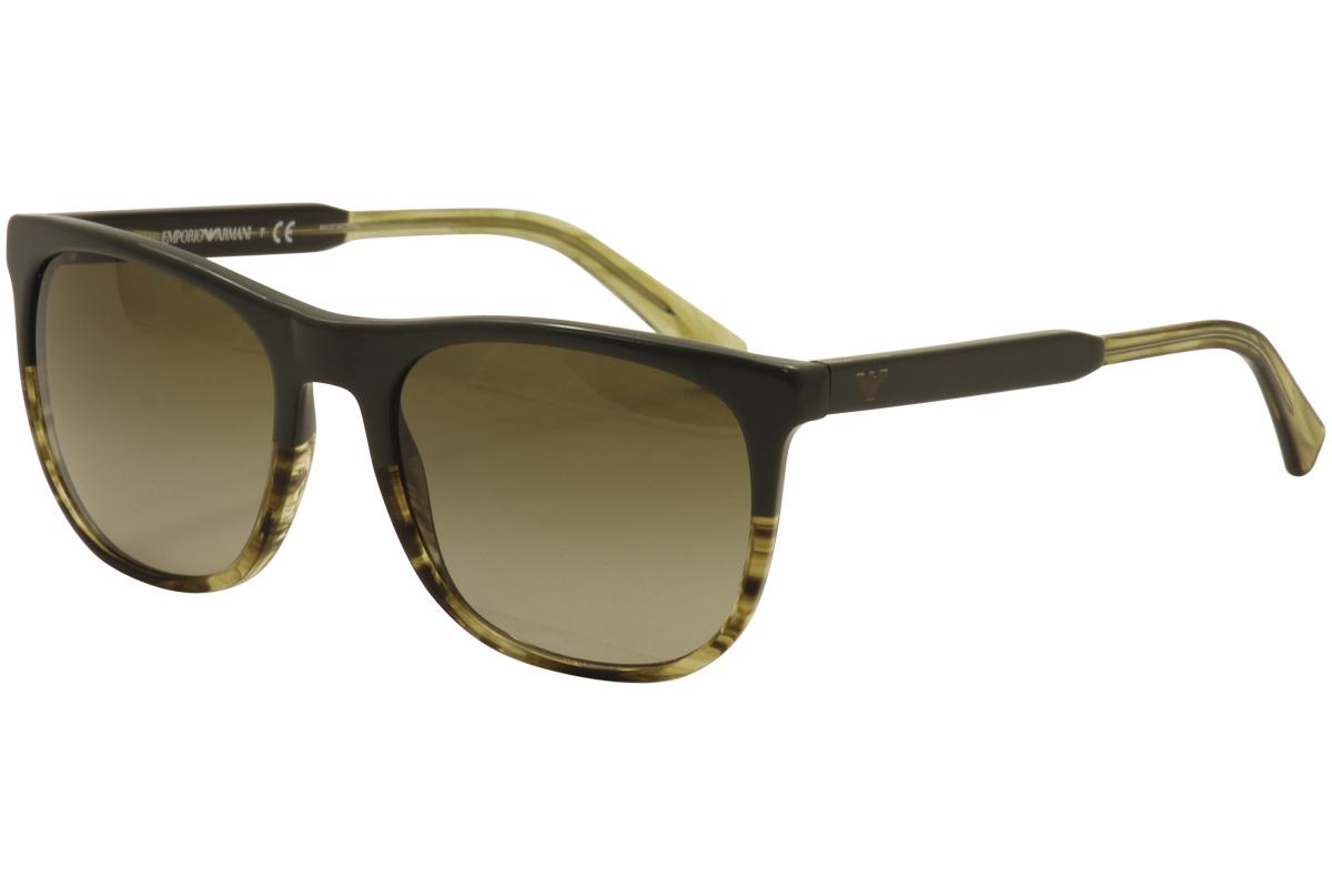 d3c5463cd98 Emporio Armani Men s EA4099 EA 4099 5571 13 Green Honey Stripes ...