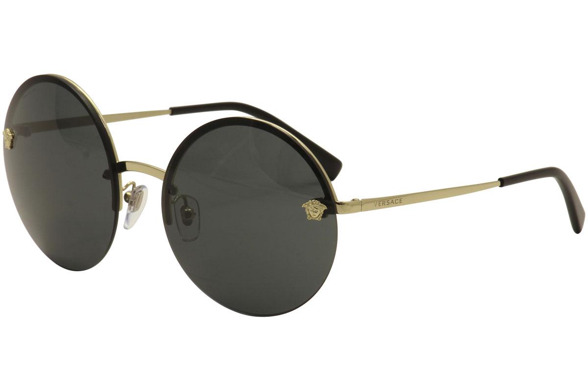 VERSACE VE2176 125287 Pale Gold Grey 59 mm Women/'s Sunglasses