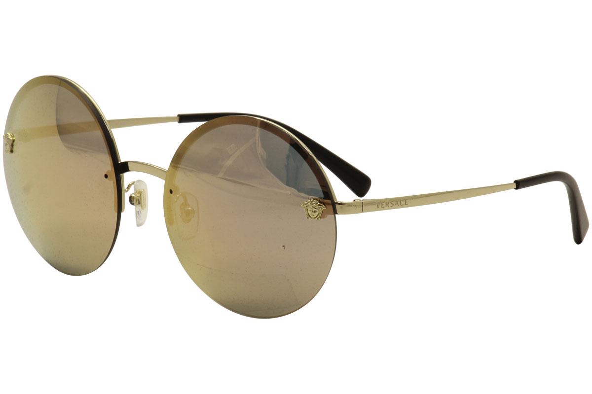 0fc2a1bbc37c Versace Women's VE2176 VE/2176 12524Z Pale Gold Fashion Sunglasses ...