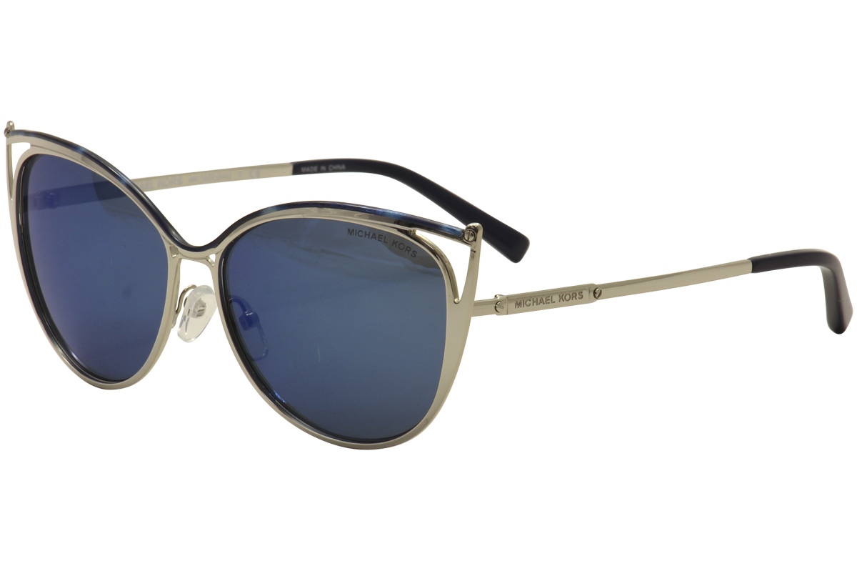 d66c11045d Michael Kors Ina MK1020 MK 1020 116755 Navy Silver Cat Eye ...