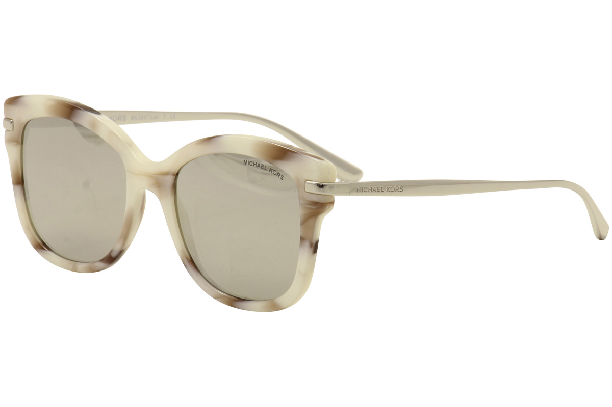 935546bed Michael Kors Lia MK2047 MK/2047 32486G Ivory/Pink Marble/Silver ...