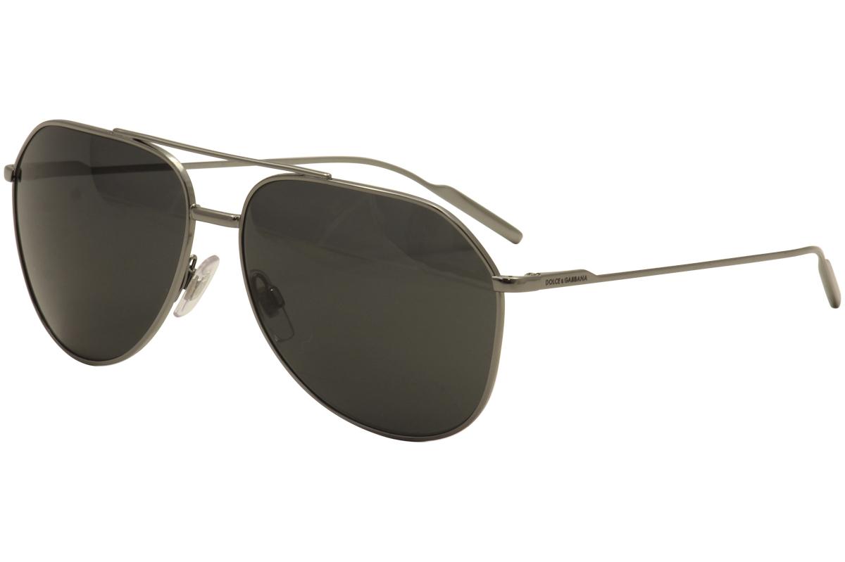 Dolce /& Gabbana D/&G DG2166 2166 04//87 Gunmetal Fashion Pilot Sunglasses 61mm