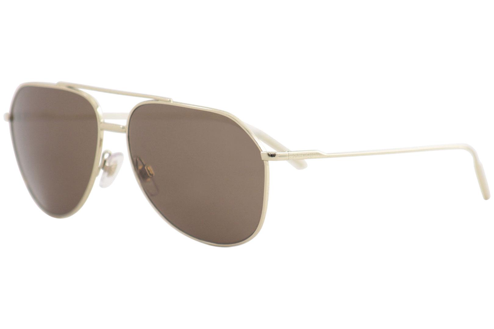 Dolce   Gabbana Men s D G DG2166 DG 2166 488 73 Pale Gold Pilot ... 78975840b9