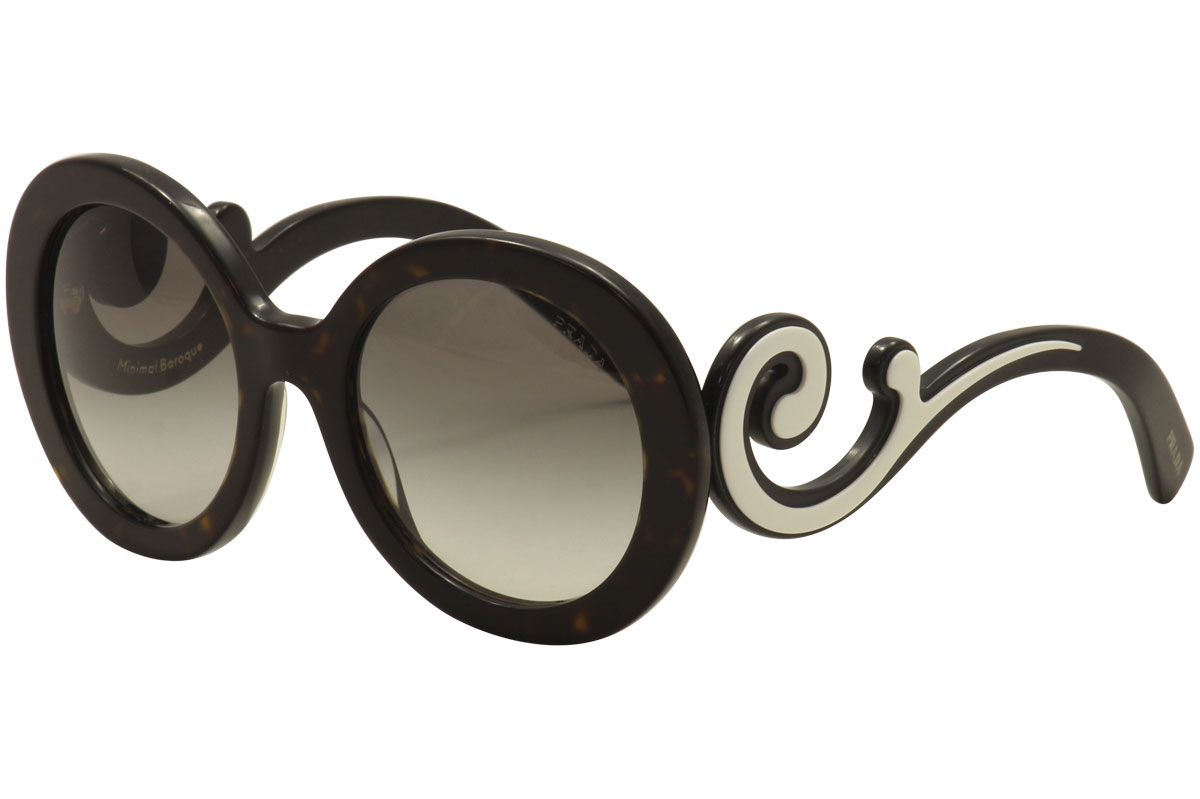 e144ec800d9 Prada Women s SPR08TF SPR 08TF 2AU0A7 Havana Black Ivory Swirl ...