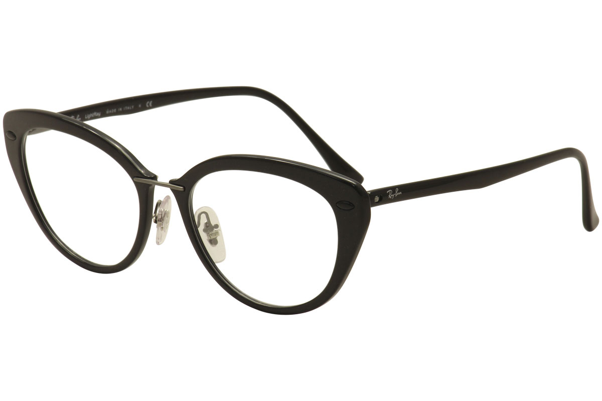 cbb91056dcf Ray Ban Eyeglasses LightRay RB7088 RB 7088 RayBan 2000 Black Optical ...