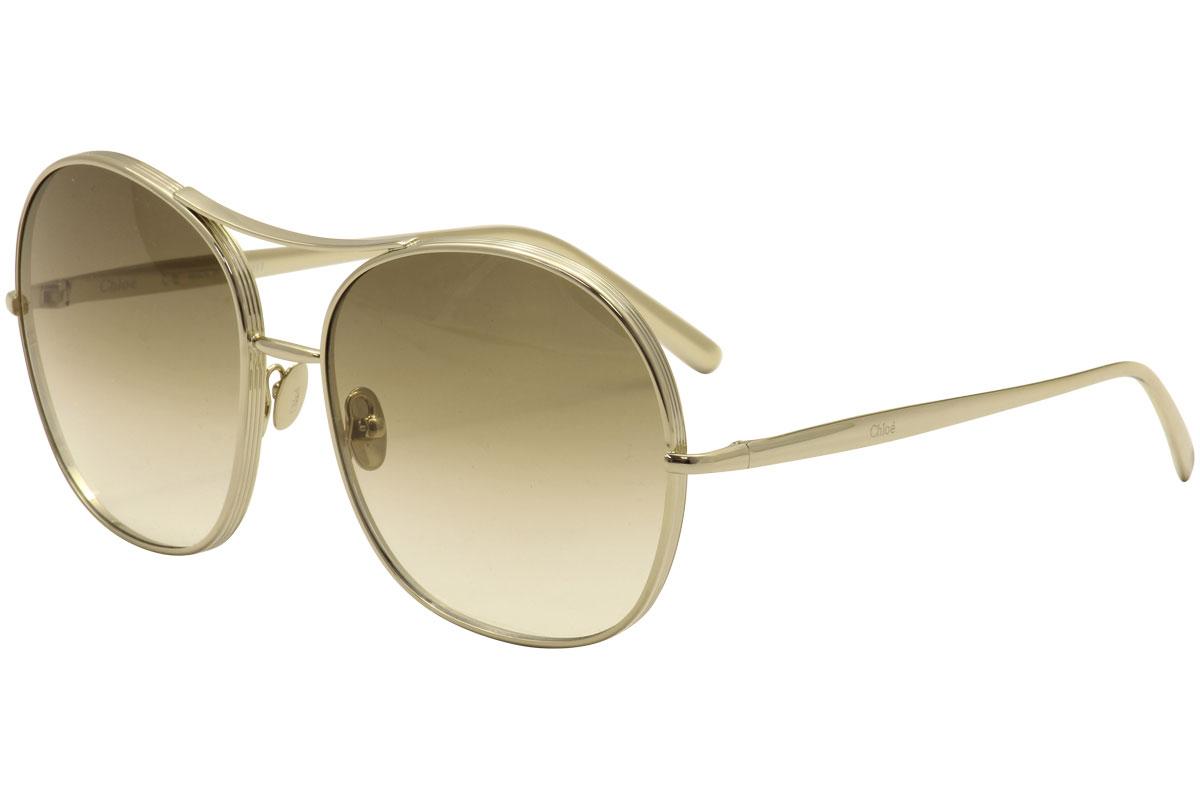 Chloe Women s CE128S CE 128 S 750 Gold Fashion Sunglasses 61mm ... 2c26473646