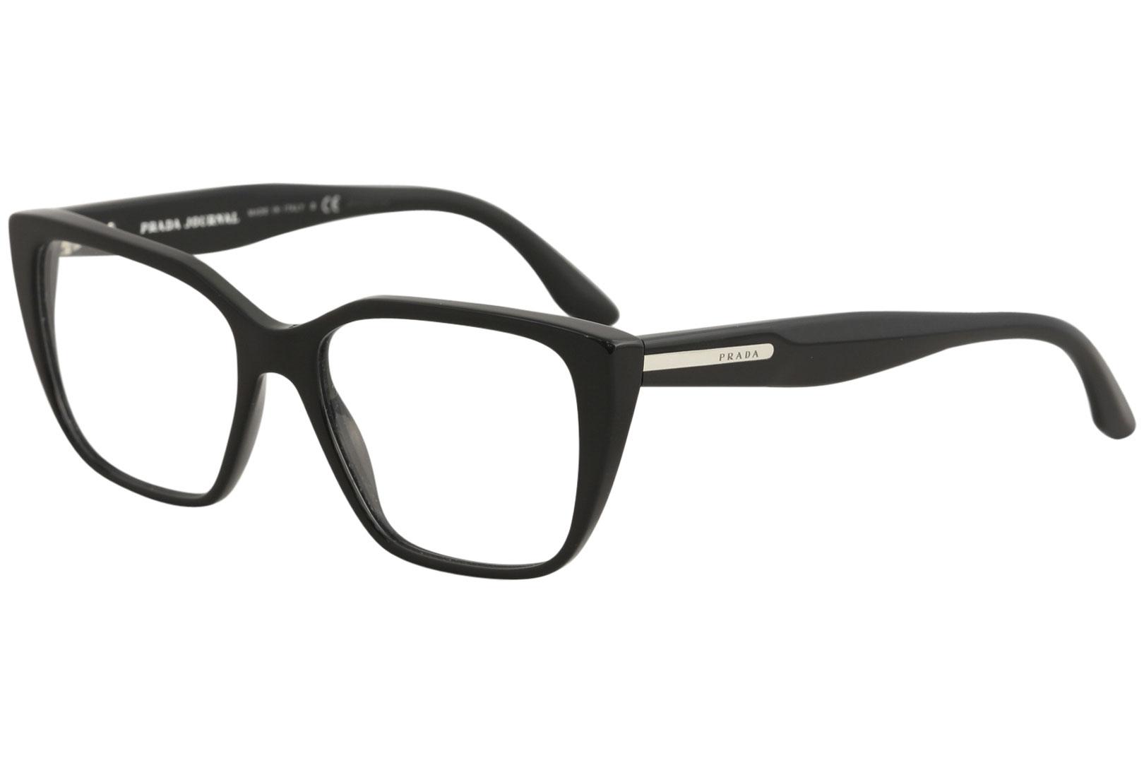798451727f85 Prada Women s Eyeglasses VPR08T VPR 08 T 1AB 1O1 Black Optical Frame ...