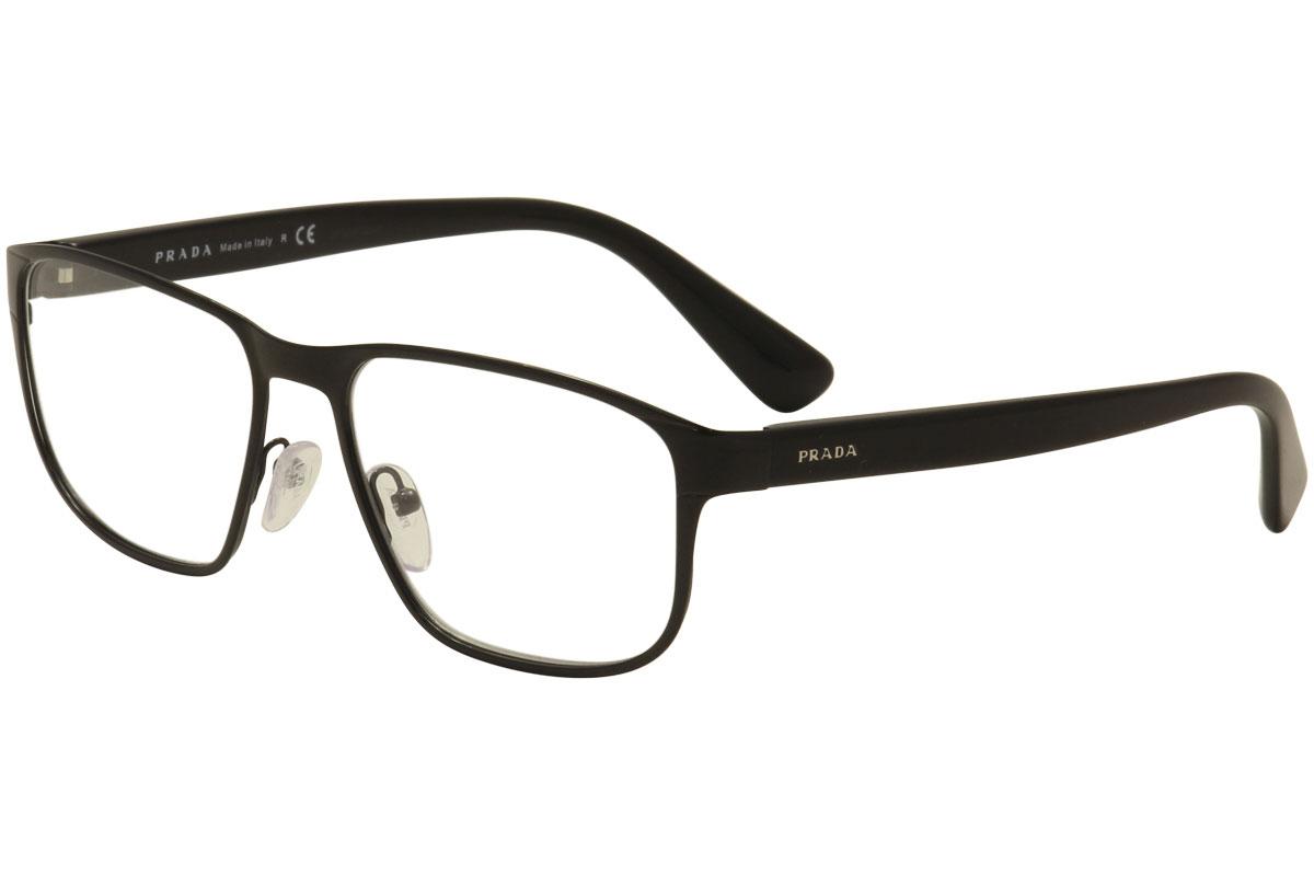 a2c9dc33a6 Prada Men s Eyeglasses VPR56S VPR 56 S 7AX-1O1 Black Full Rim ...