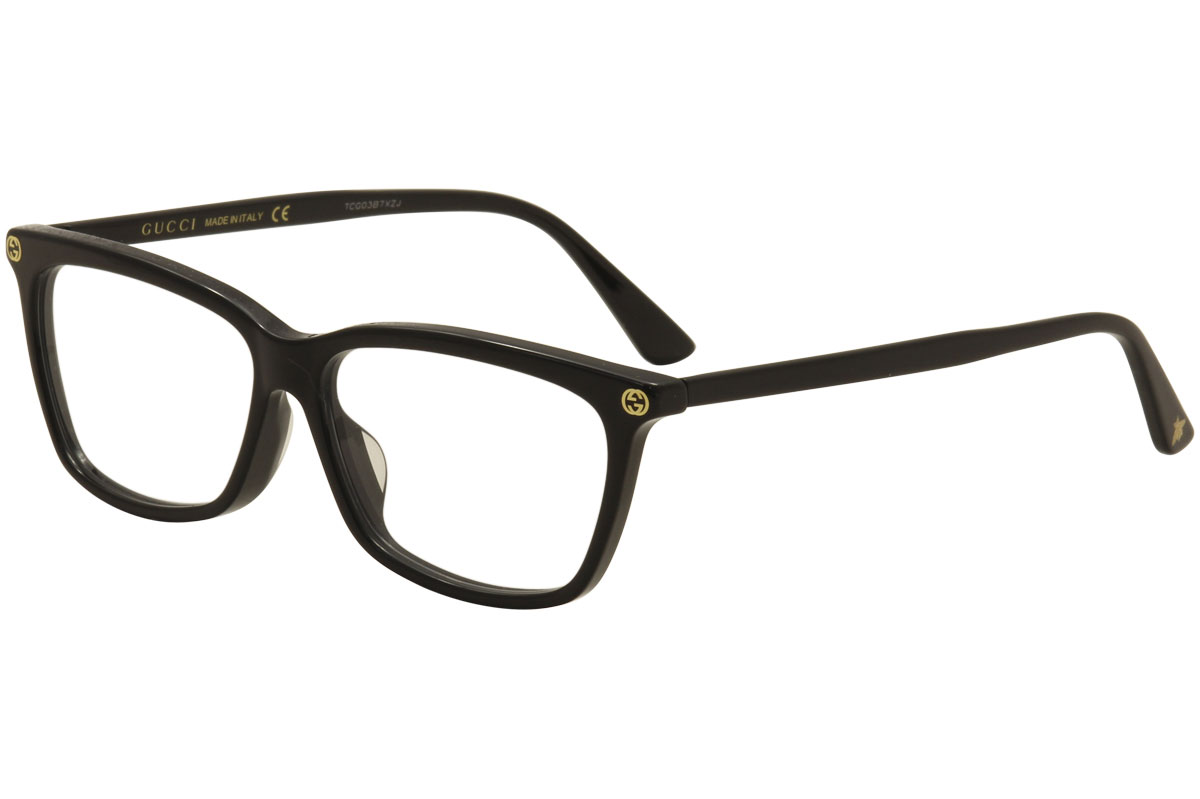 125bfada200c9 Gucci Women s Eyeglasses GG0042OA 0042 001 Black Transparent Optical ...