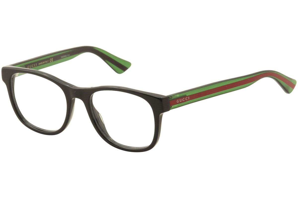 Gucci Men\'s Eyeglasses GG0071O GG/0071/O 002 Black Full Rim Optical ...