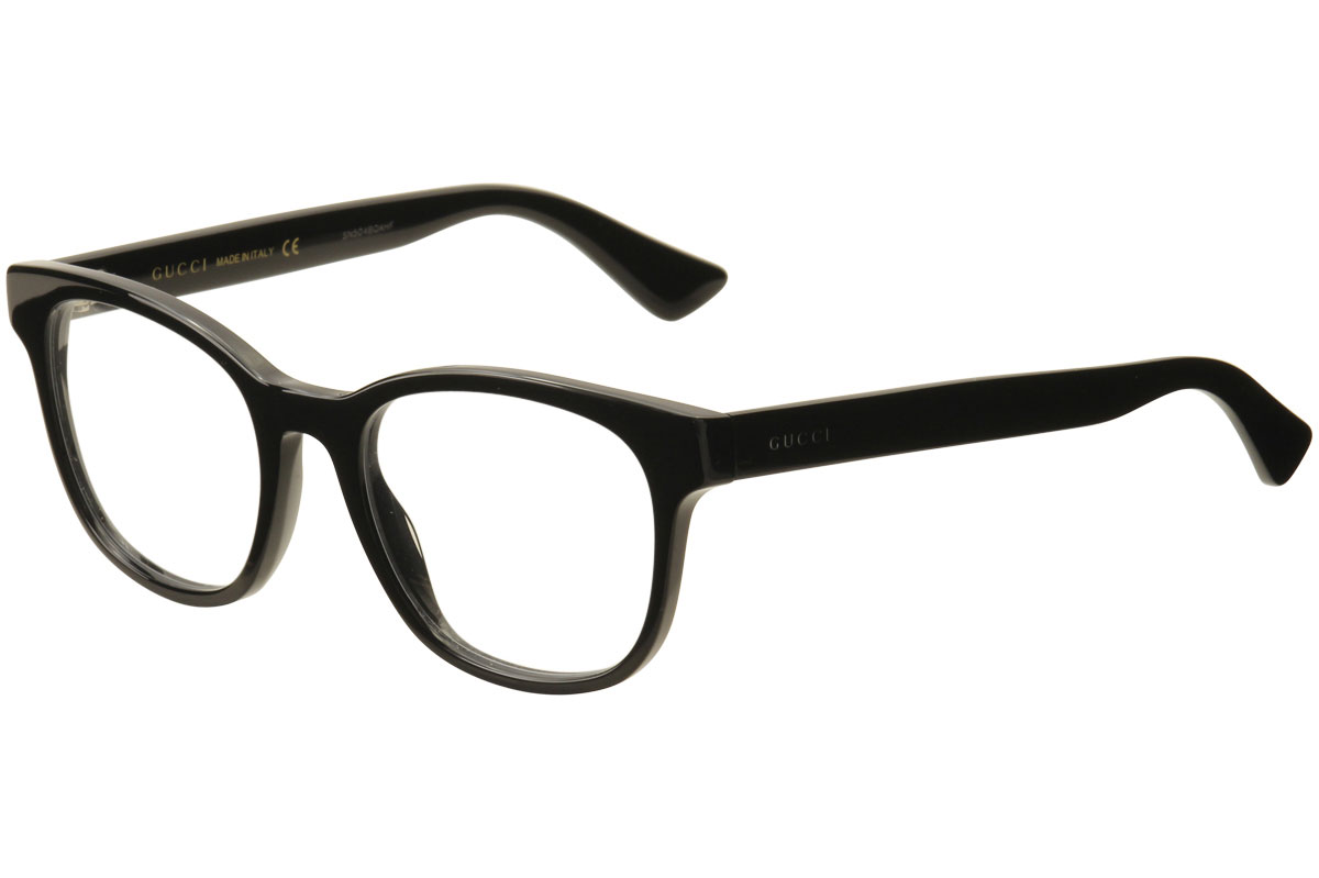 Gucci Men\'s Eyeglasses GG0005O GG/0005/O 005 Black Full Rim Optical ...