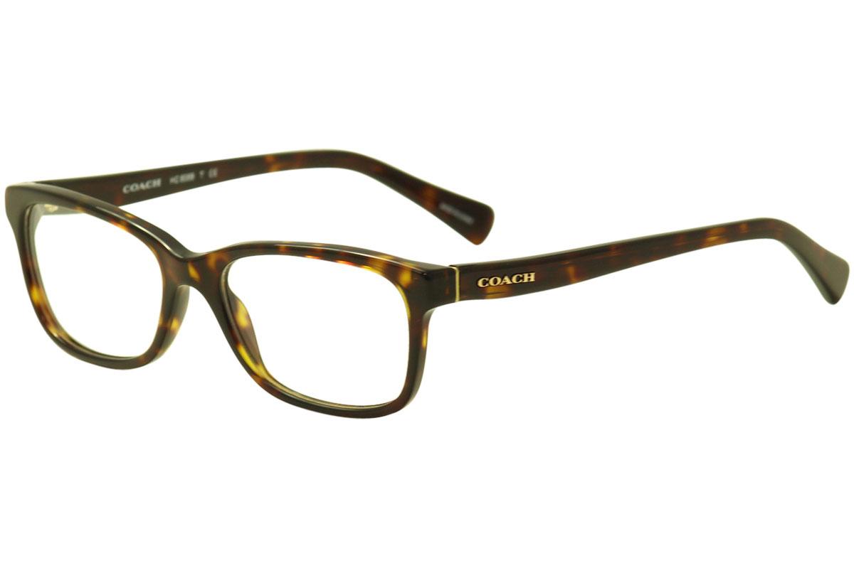 4d8474a8d6 Coach Women s Eyeglasses HC6089 HC 6089 5120 Dark Tortoise Optical ...