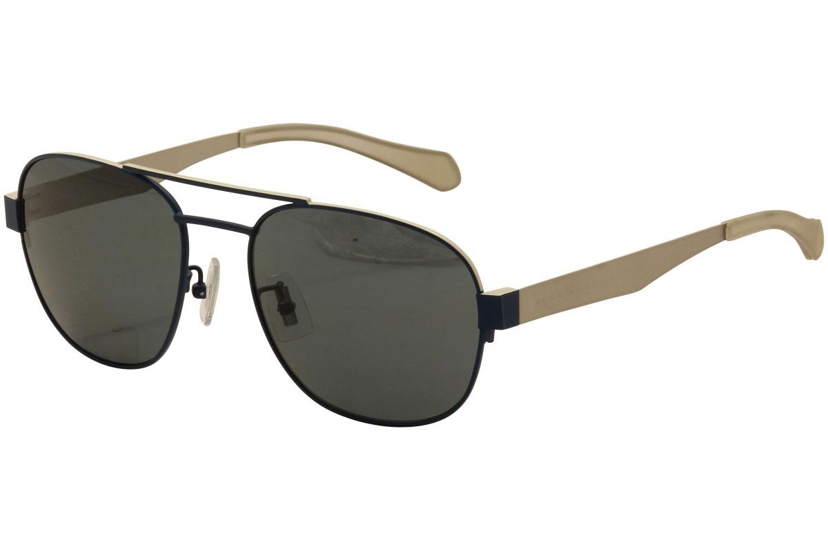 5ea9eaecb6 Hugo Boss 0896FS 0896 F S 05Q RA Matte Blue Polarized Sunglasses ...