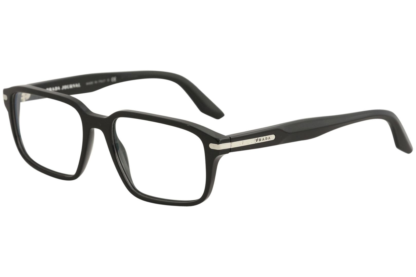 6920e1eb37 Prada Men s Eyeglasses VPR09T VPR 09 T 1AB 1O1 Black Full Rim ...