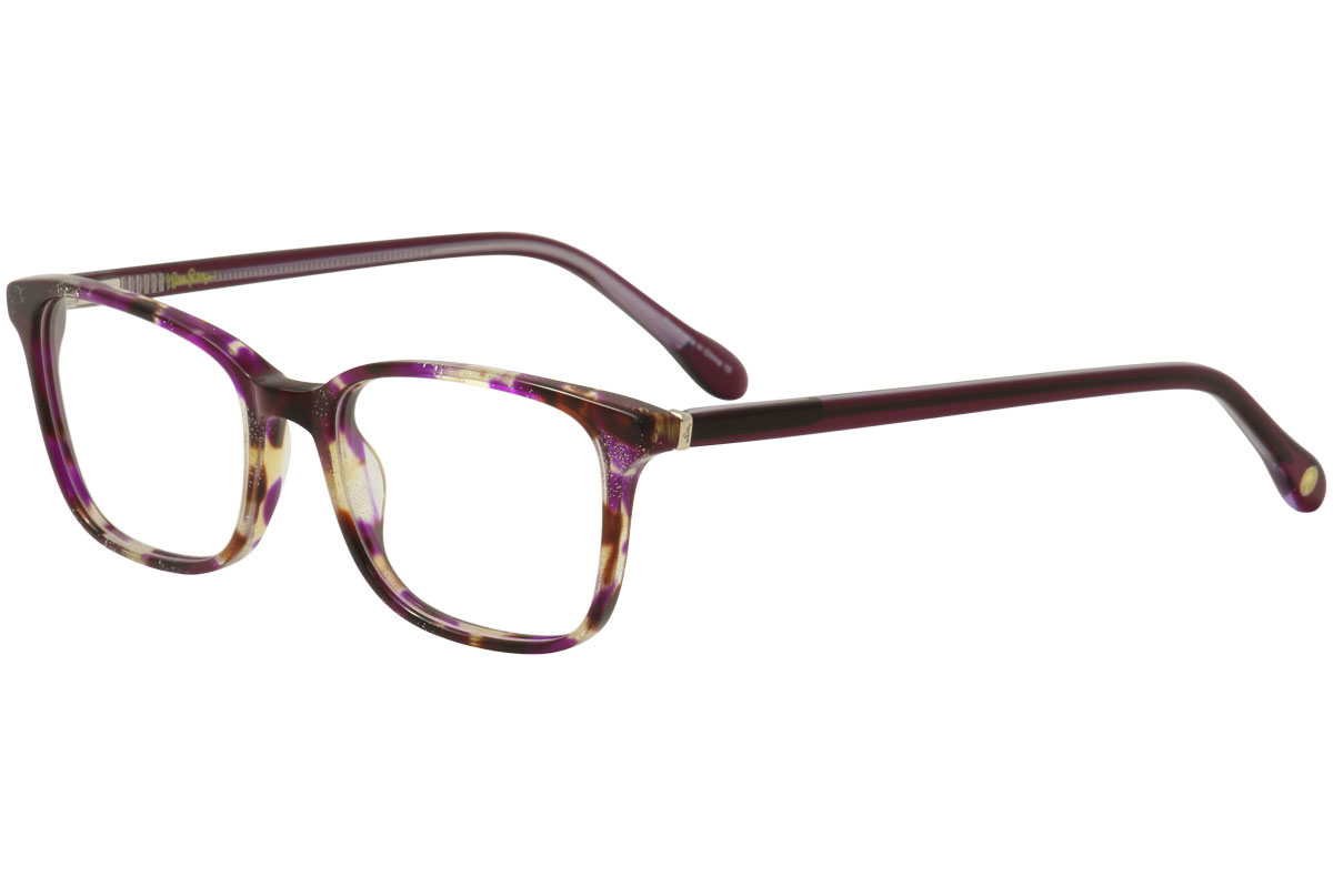 8b0952b3b84 Lilly Pulitzer Women s Eyeglasses Witherbee FU Fuschia Tort Optical ...