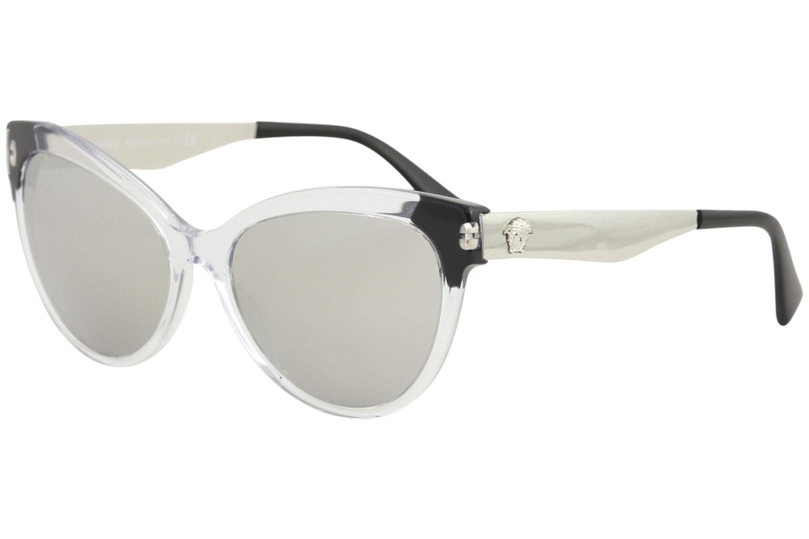 41d5a44b16fd Versace Women s VE4338 VE 4338 5243 6G Crystal Black Cat Eye ...