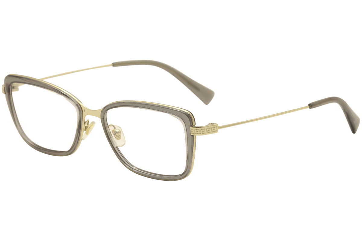 218223c6fe Versace Eyeglasses VE1243 1399 Pale Gold Grey Transparent Optical ...