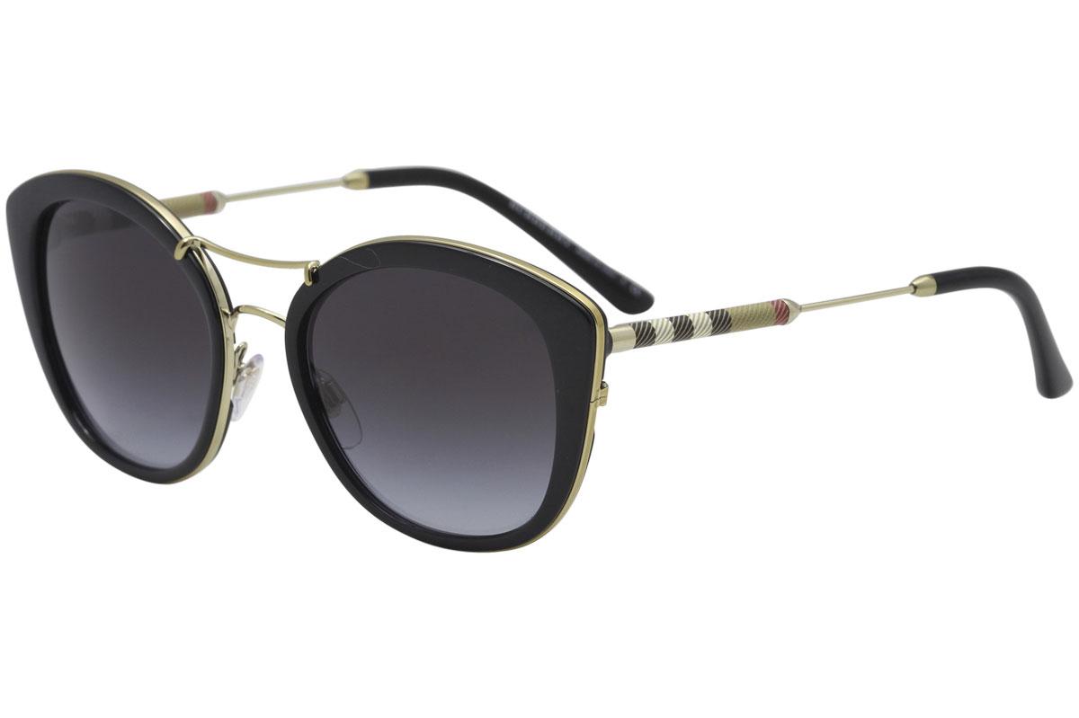85e732aa9a1 Burberry Women s BE4251Q BE 4251 Q 30018G Black Round Sunglasses ...