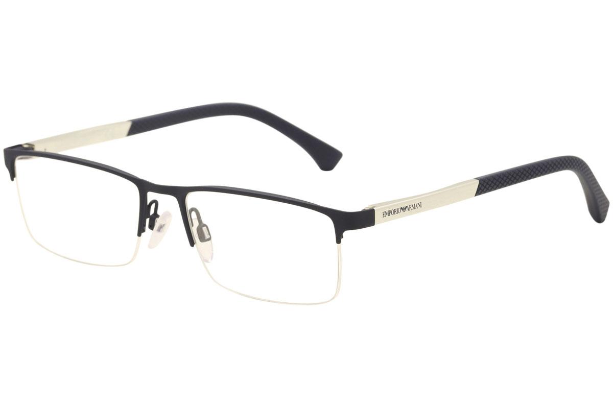 2c9320ba740e Emporio Armani Eyeglasses EA1041 EA 1041 3131 Blue Rubber Optical ...
