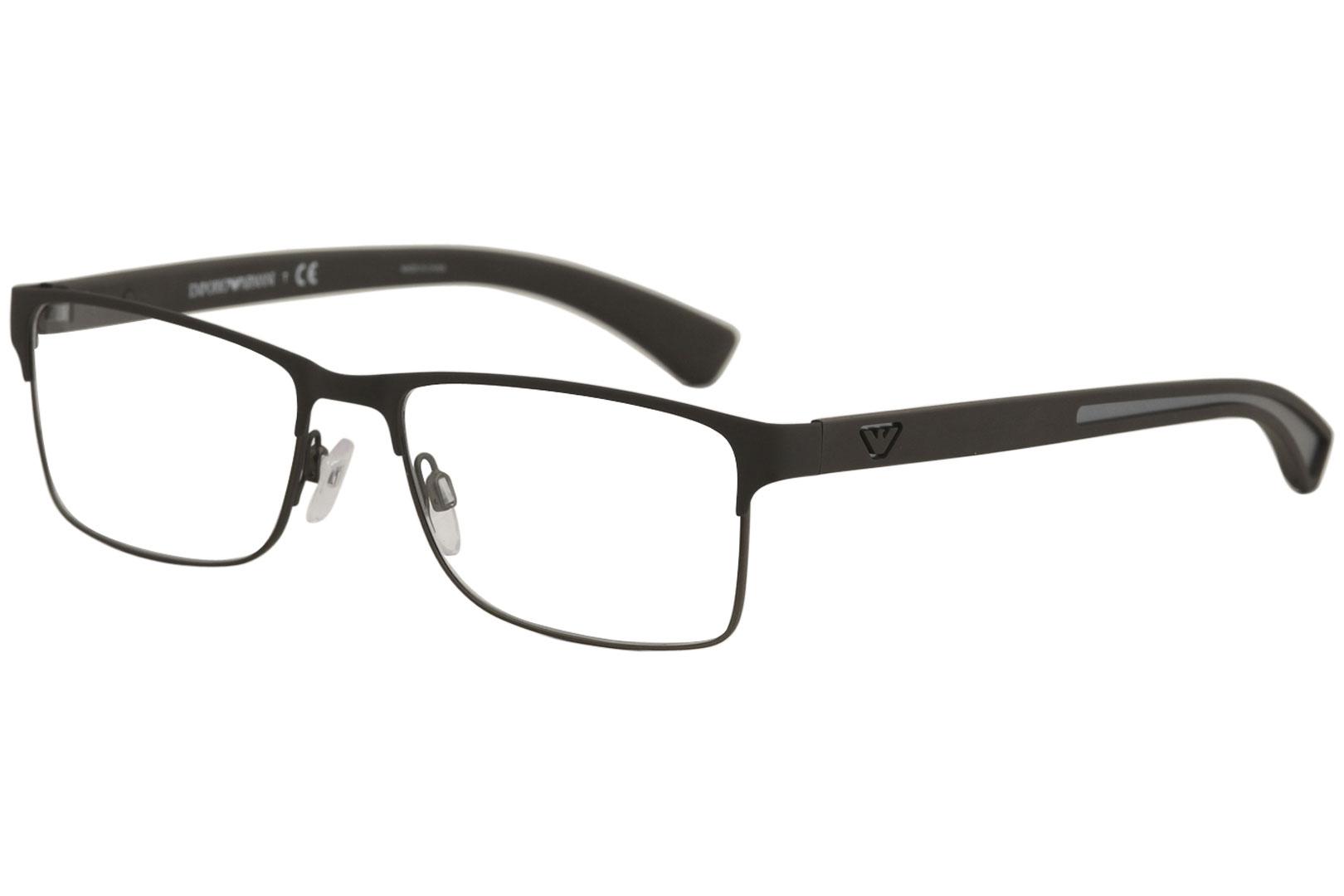 66711424bbd Emporio Armani Men s Eyeglasses EA1052 1052 3156 Brown Rubber ...