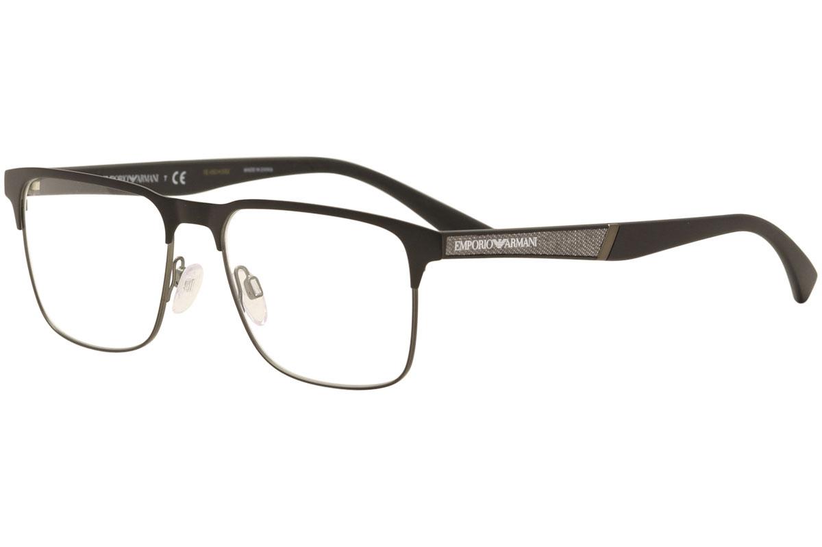 Emporio Armani Eyeglasses EA1061 EA 1061 3001 Black Gunmetal Optical ... 97cdda63c2