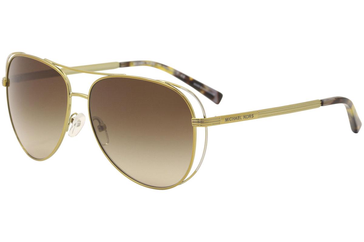 19dab7139a Michael Kors Women s Lai MK1024 MK 1024 119113 Gold Silver Pilot ...