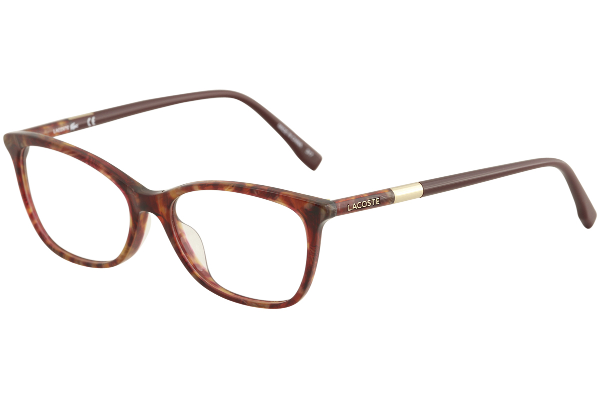5956bcd25b9d Lacoste Women s Eyeglasses L2791 L 2791 615 Striped Red Optical ...