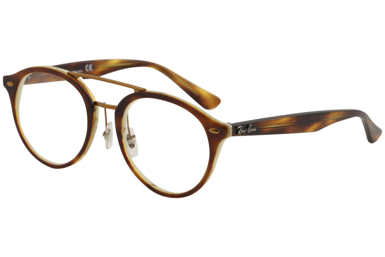 92e6e9a0ddd10 Ray Ban Eyeglasses RX5354 5354 5677 Havana Brown Horn Beige Optical ...