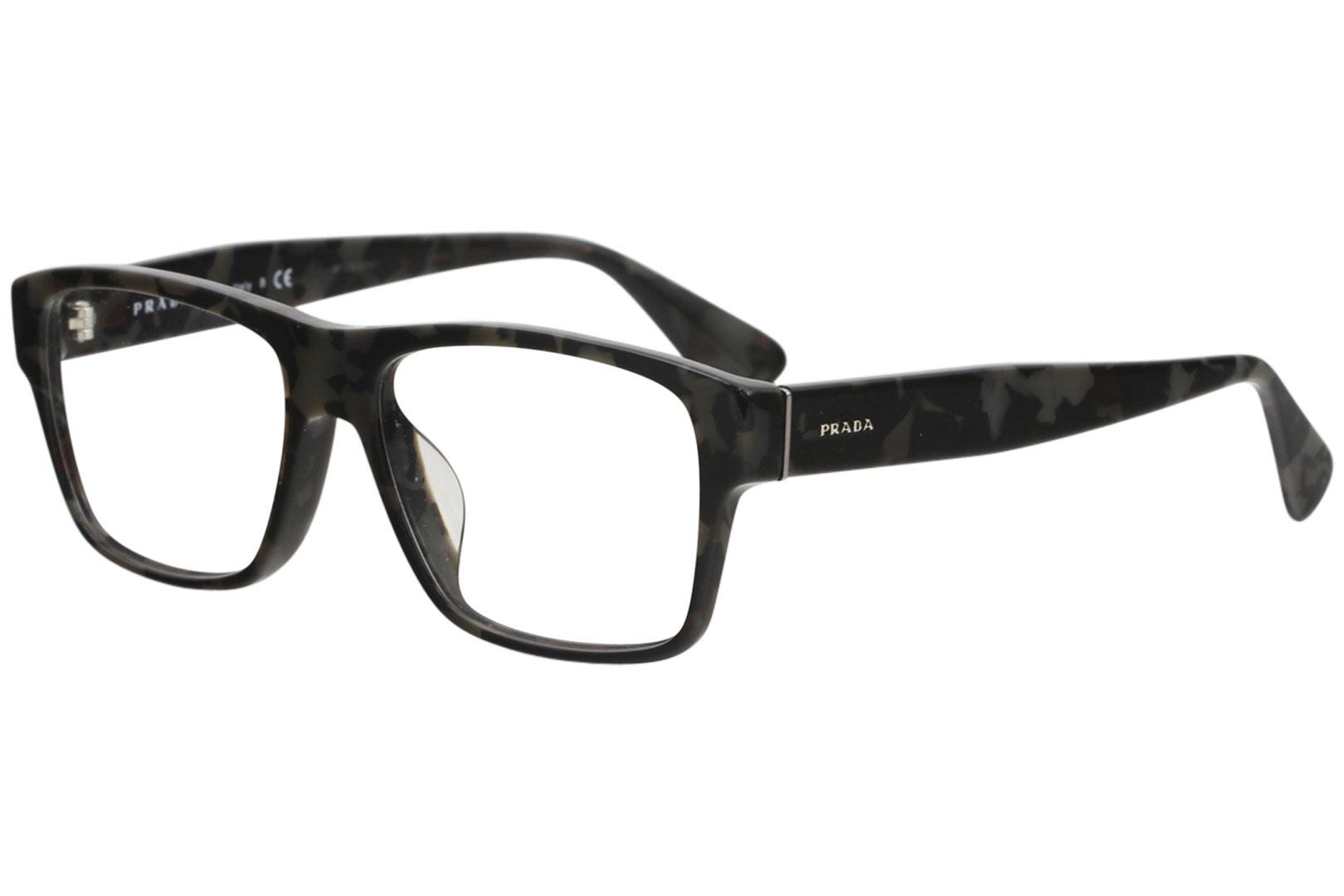 aba3eb08ce32 Details about Prada Eyeglasses VPR17SF VPR 17SF UEL 1O1 Spotted Brown Grey Optical  Frame 55mm