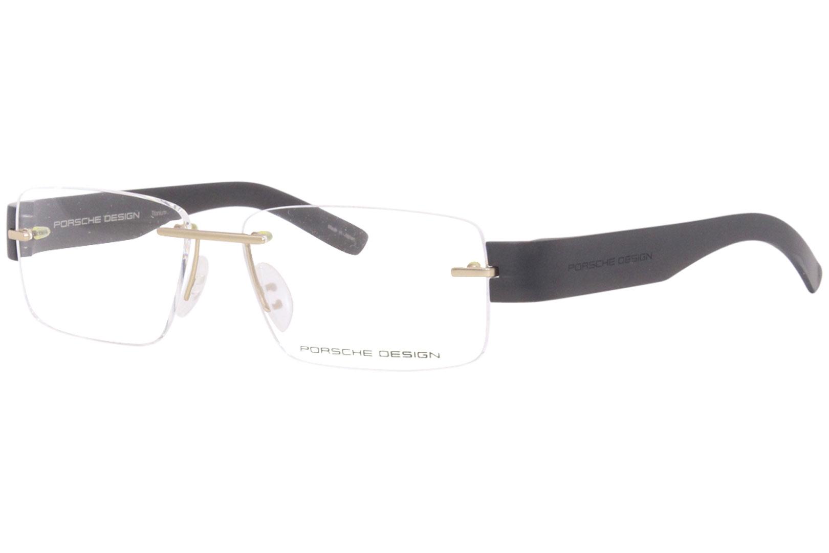 1f7487f3e7 Porsche Design Eyeglasses P8206 P 8206 A Gold Grey Titanium Optical ...