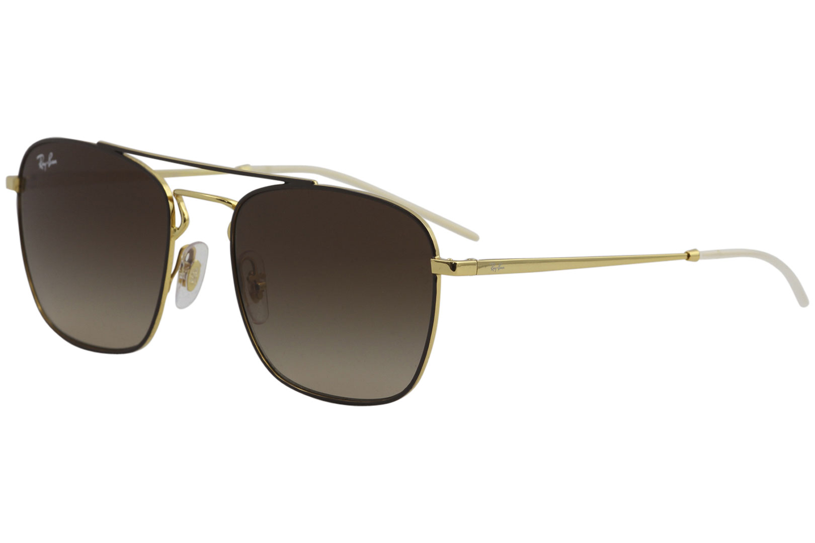 Ray Ban Men s RB3588 RB 3588 905513 Gold Brown RayBan Sunglasses ... cd9c2fc2dd