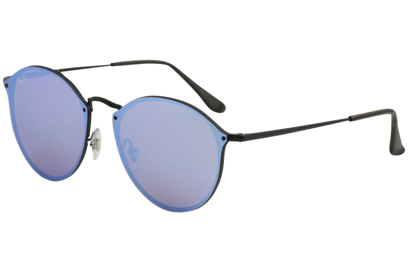 ea2417b8e9 Details about Ray Ban Blaze Round RB3574N RB 3574 1537V Demigloss Black  RayBan Sunglasses 59mm