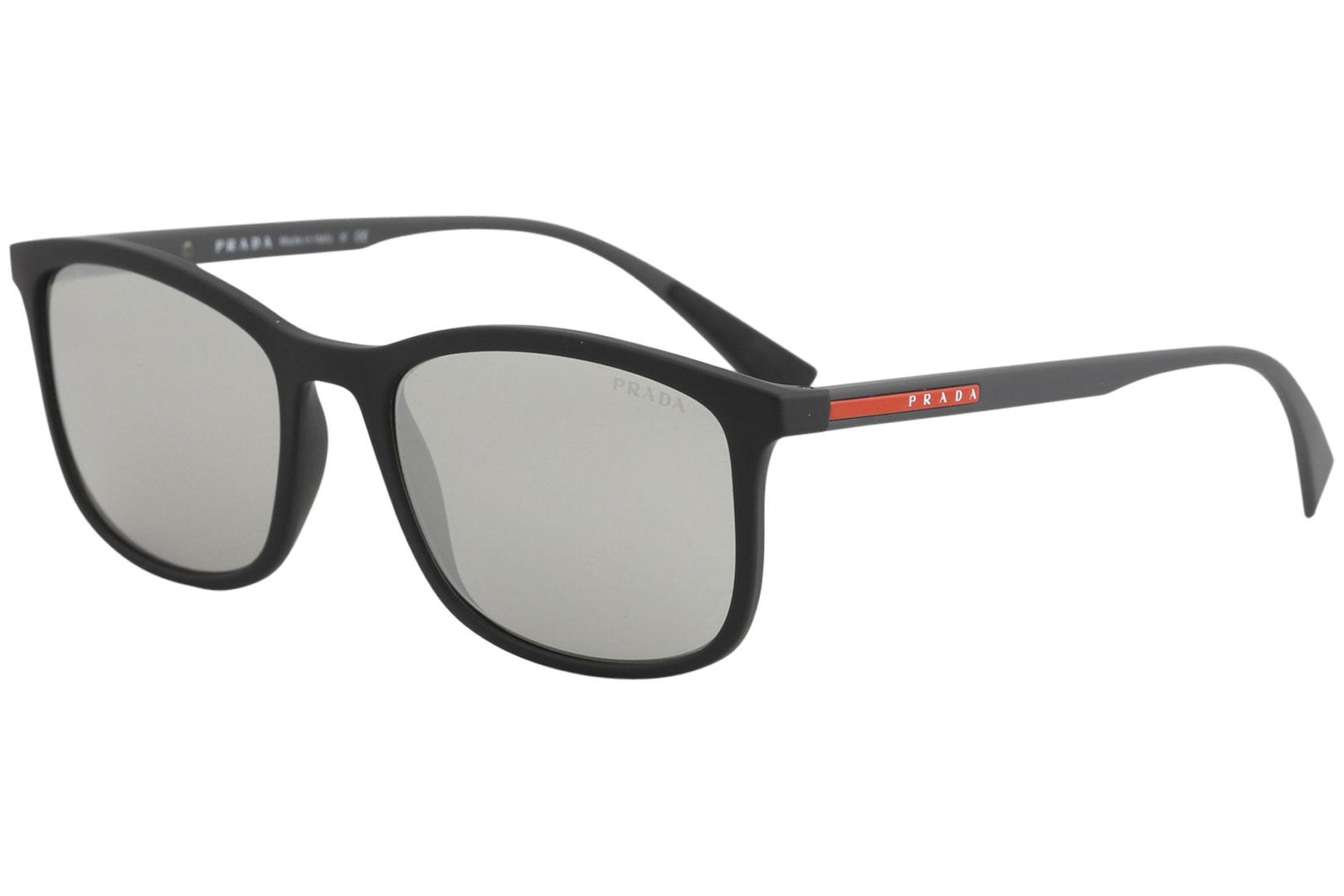 96e3771c750d Details about Prada Linea Rossa SPS01T SPS 01T DG0 2B0 Black Rubber Square  Sunglasses 56mm