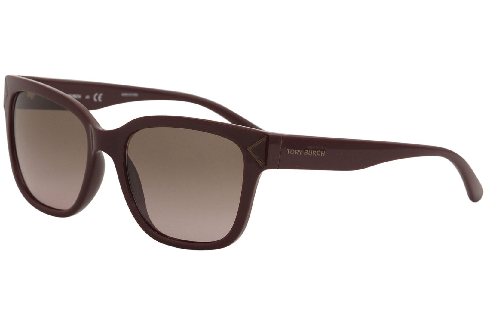 8742b53446b7 Tory Burch Women's TY9050 TY/9050 1681/14 Bordeaux Square Sunglasses ...