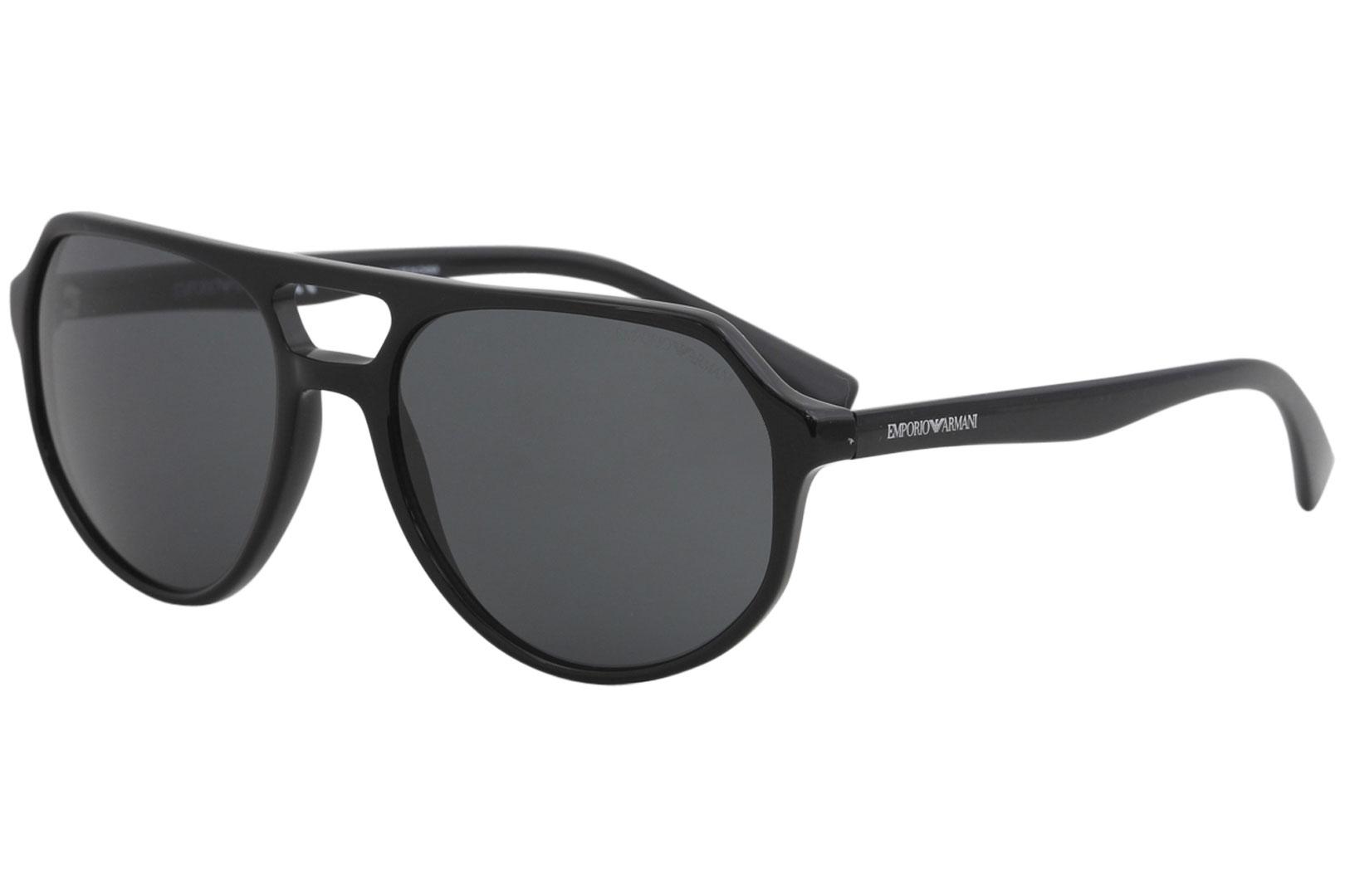 bc4c3ce2910 Emporio Armani Men s EA4111 EA 4111 5001 87 Black Fashion Pilot ...