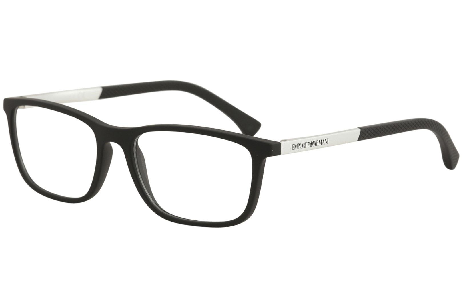 90199e3dbbf Emporio Armani Eyeglasses EA3069 EA 3069 5063 Black Rubber Optical ...