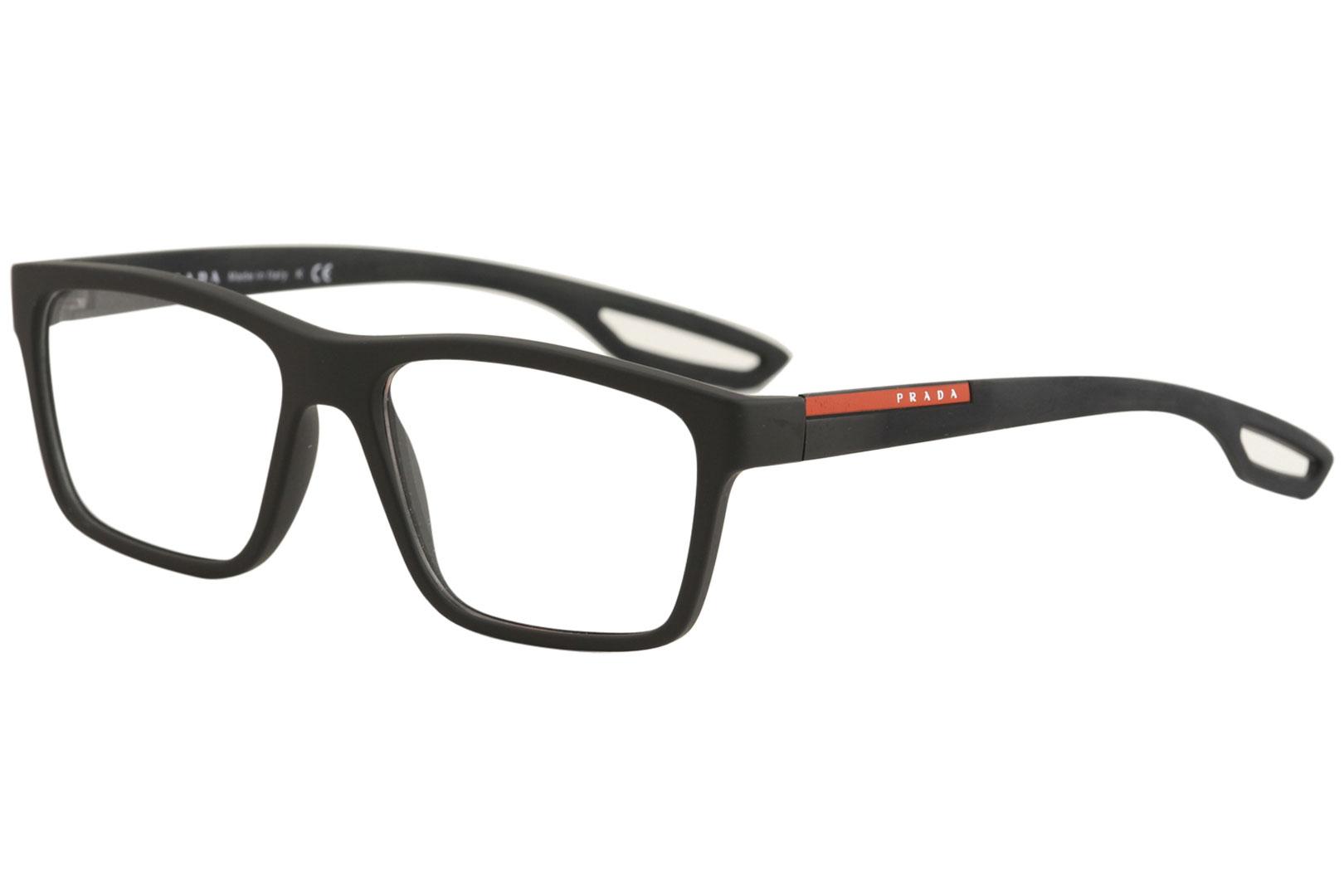 Prada Linea Rossa Eyeglasses VPS07F VPS/07/F UAP/1O1 Black Optical ...