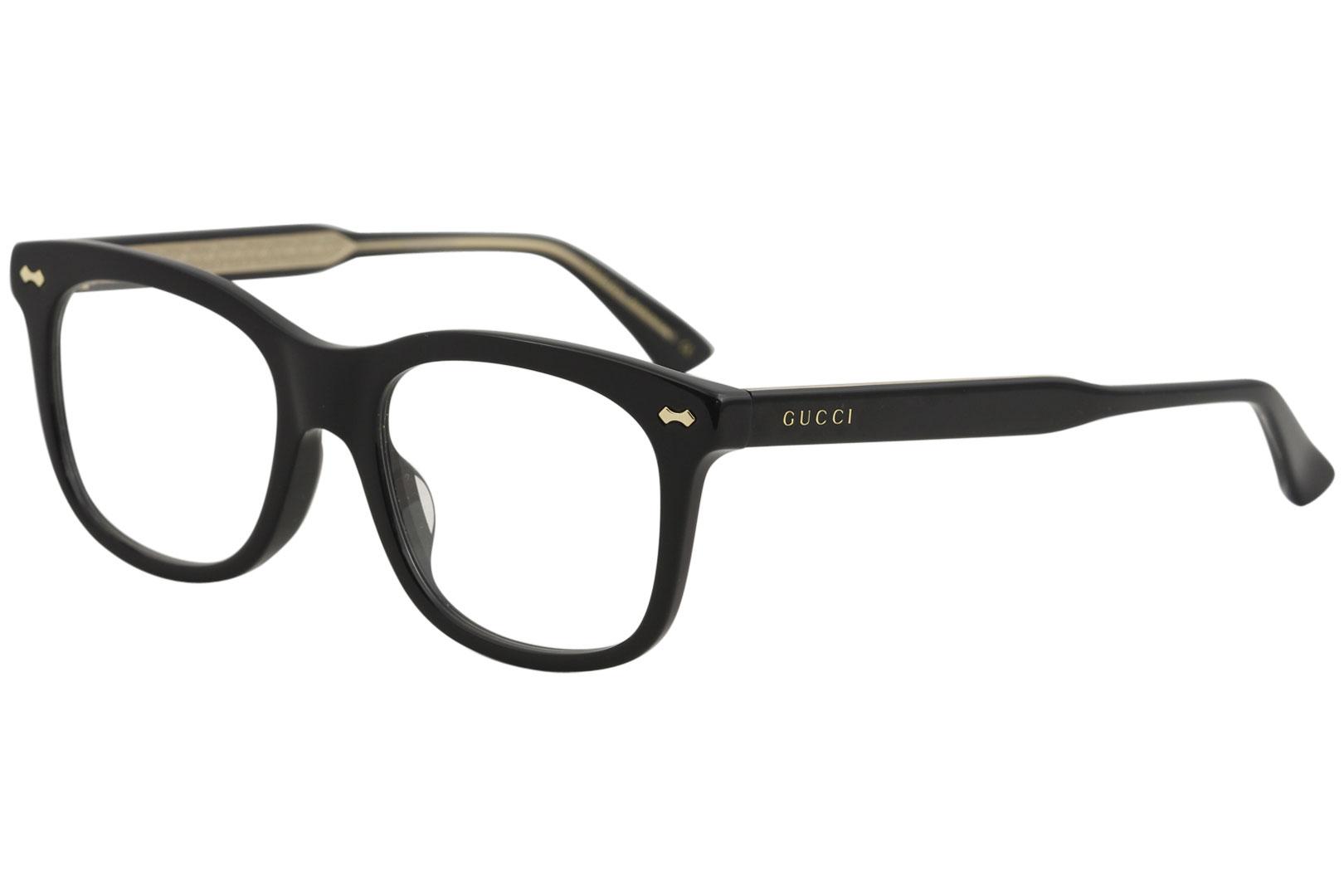 Gucci Eyeglasses GG0186OA GG/0186/OA 001 Black Optical Frame 52mm ...
