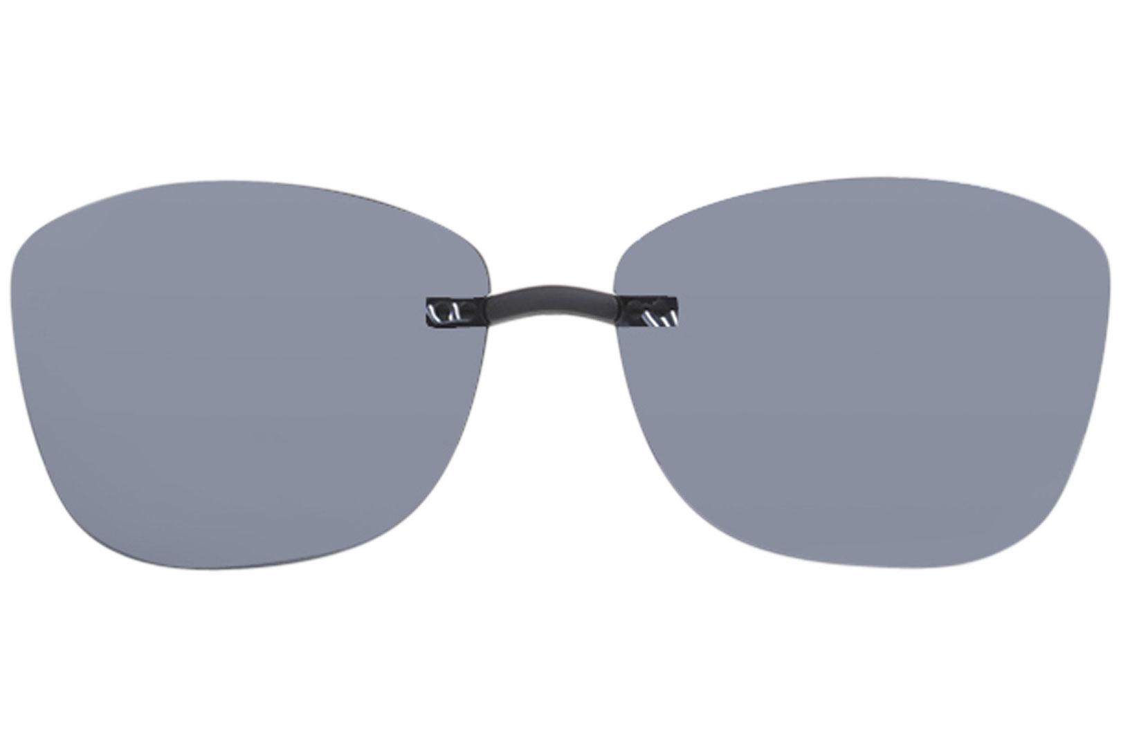b0033102b73 Silhouette Sunglasses Clip-On 5090 A2 Shape 0701 Polarized Blue-Gray ...