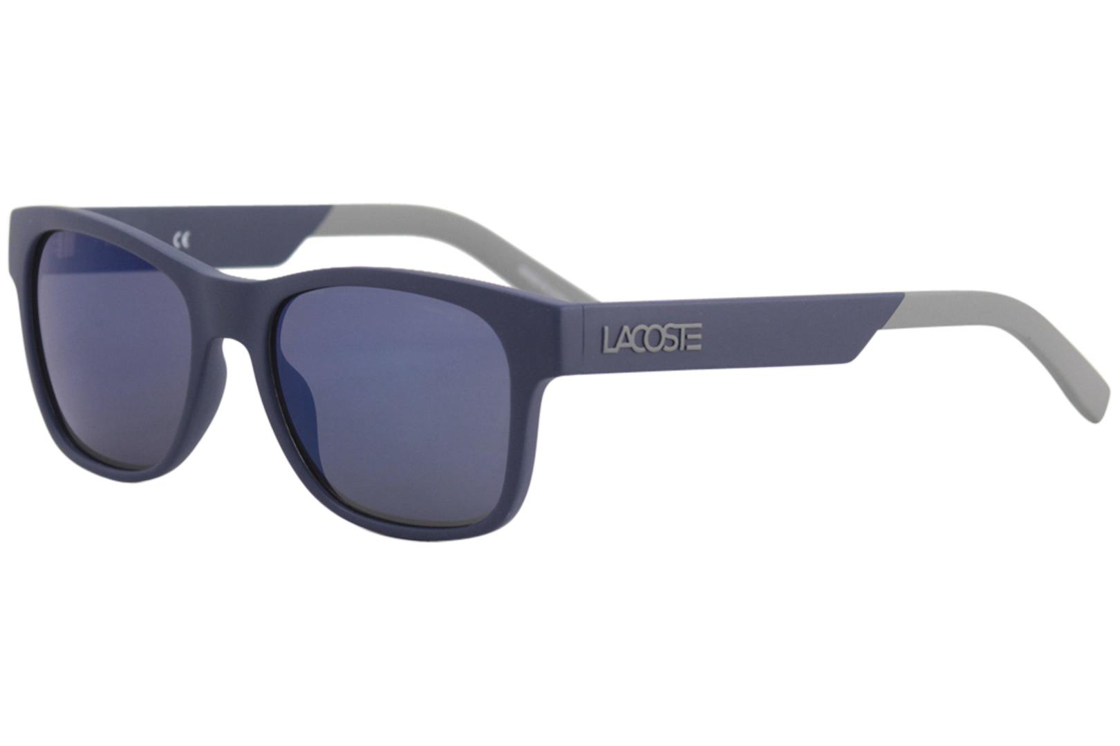 bc69a13234 Lacoste Men s L829S L 829 S 414 Matte Blue Fashion Square Sunglasses ...