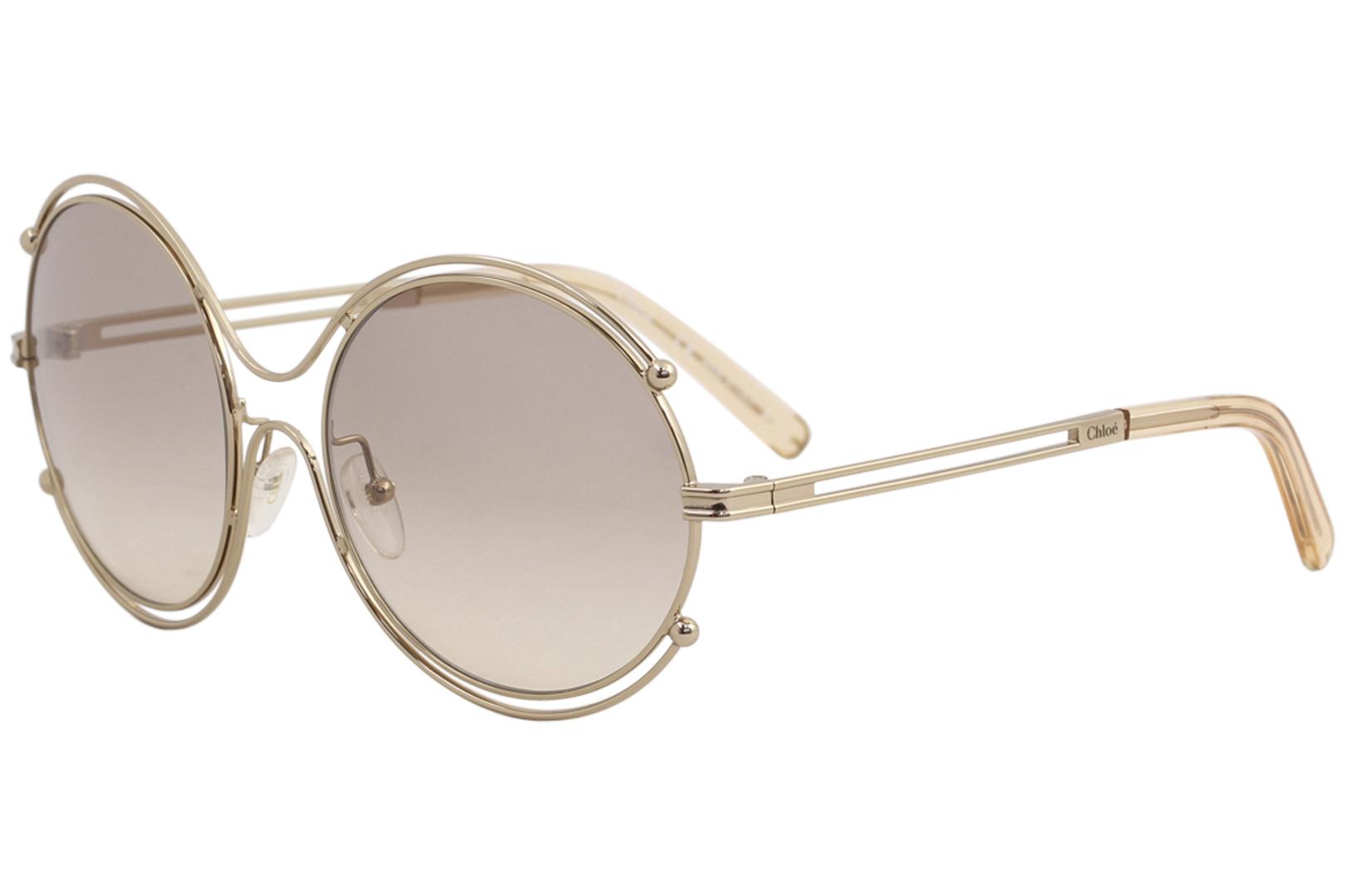 b64756d59540 Chloe Women s CE122S CE 122 S Rose Gold 785 Fashion Round Sunglasses ...