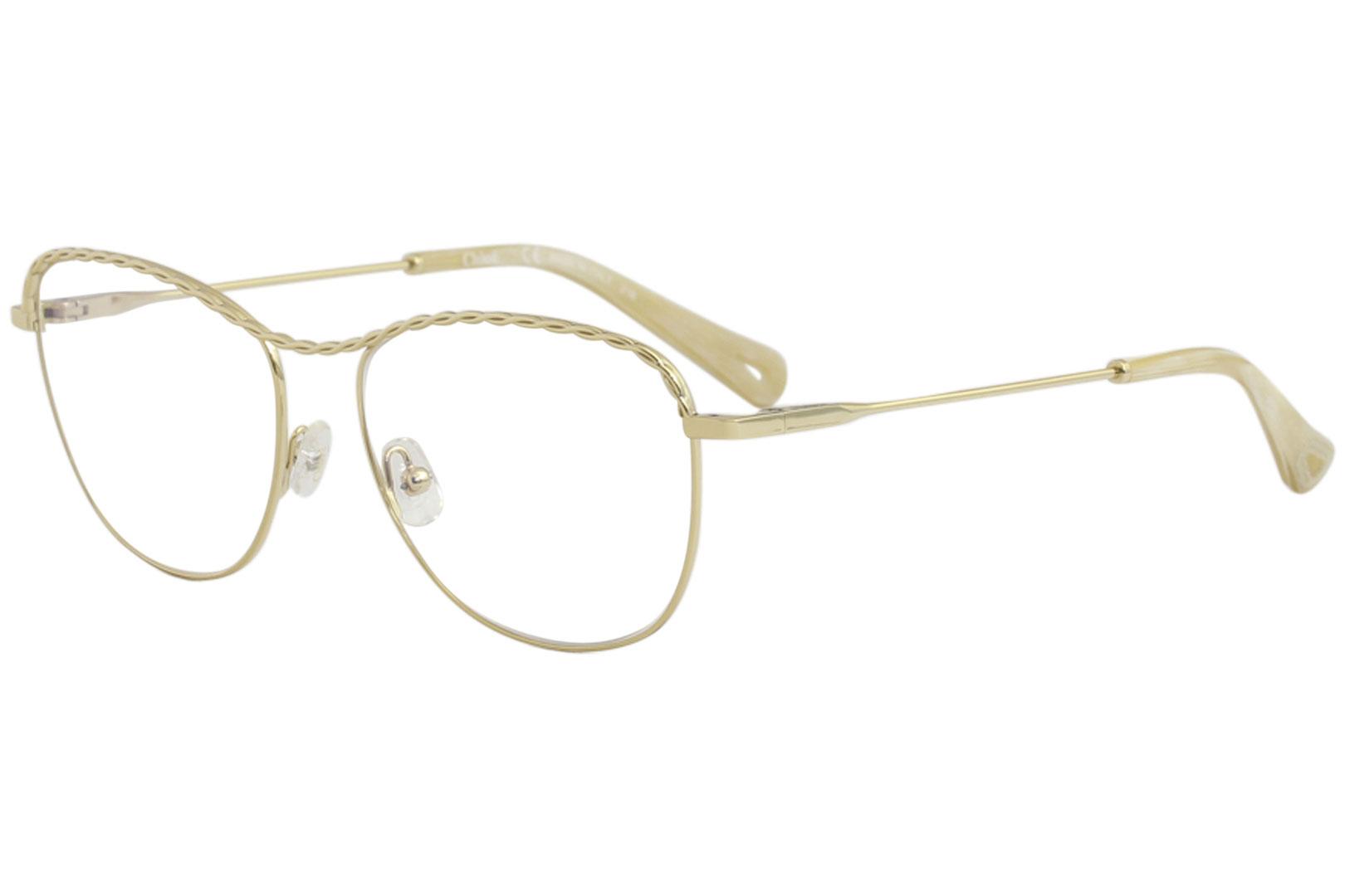 f51c8b817b2 Chloe Women s Eyeglasses CE2139 CE 2139 717 Gold Full Rim Optical ...