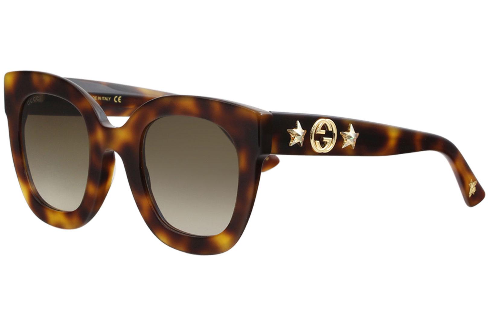 4f15fc83d79bc Gucci Women s GG0208S GG 0208 S 003 Havana Fashion Square Sunglasses ...